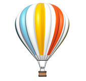 Colorful Hot Air Balloon in Flight Stock Photography