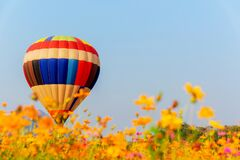 Free Colorful Hot Air Balloon Flying At The Natural Park And Garden. Outdoor Travel In Thailand Stock Photography - 199626182