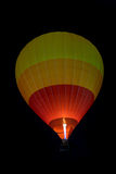Colorful hot air balloon is flying Royalty Free Stock Photo