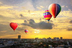 Colorful hot air Royalty Free Stock Image