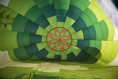 Colorful of hot air balloon inside Stock Image
