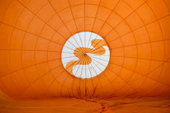 Colorful of hot air balloon inside Royalty Free Stock Photo