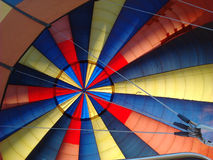 Colorful hot air balloon from inside Royalty Free Stock Photo