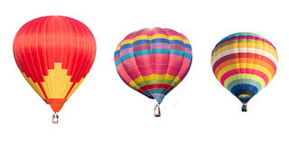 Colorful hot air balloon. Isolated on white background Royalty Free Stock Photos