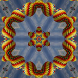 Colorful Hot Air Balloon Kaleidoscope Royalty Free Stock Image