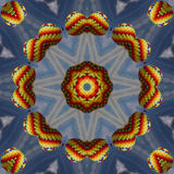 Colorful Hot Air Balloon Kaleidoscope 2 Stock Photography
