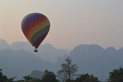 Colorful Hot Air Balloon in Laos Stock Photo