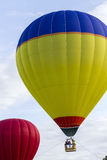 A Colorful Hot Air Balloon Lifting Into The Sky Royalty Free Stock Photography