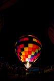 Colorful Hot Air Balloon at Night Royalty Free Stock Photography