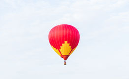 Colorful hot air balloon. On sky Stock Photo