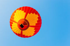 Colorful hot air balloon in the sky. Royalty Free Stock Image