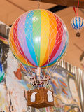 Colorful hot air balloon toy Royalty Free Stock Photography