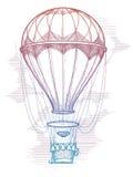 Colorful hot air balloon vintage poster Stock Photos