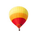 Colorful hot air balloon on white background. Colorful hot air balloon isolated on white background Royalty Free Stock Image