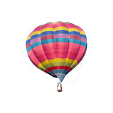 Colorful hot air balloon on white background. Colorful hot air balloon isolated on white background Royalty Free Stock Photos
