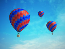 Colorful hot-air balloons Stock Photos