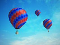 Colorful hot-air balloons Stock Photos