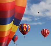 Colorful hot air balloons. Hot air balloons at an annual show Stock Images