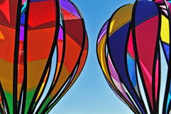 Colorful hot air balloons. Colorful hot air balloon wind decorations surrounded by sky Stock Photos