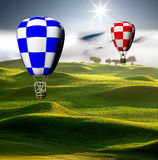 Colorful hot air balloons Royalty Free Stock Photo