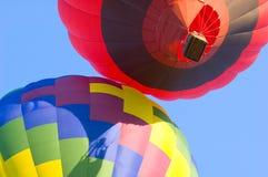 Colorful Hot Air Balloons. Looking upwards at colorful hot air balloons Royalty Free Stock Photography