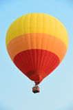 Colorful hot air balloons against a blue sunset sky Royalty Free Stock Photo