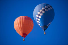 Colorful Hot Air Balloons in Flight Stock Image