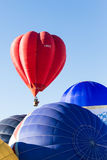 Colorful hot air balloons in flight Royalty Free Stock Images