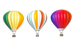 Colorful Hot Air Balloons in Flight Stock Photos