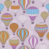 Colorful hot air balloons floating. Seamless image of colorful hot air balloons floating in the sky Royalty Free Stock Photography
