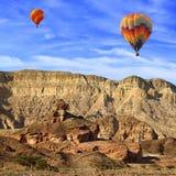 Flying over the stony desert stock photos