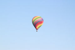 Colorful hot-air balloons flying Stock Photography