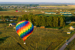 Colorful hot air balloons flying Royalty Free Stock Photography