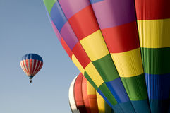 Colorful hot air balloons launching Royalty Free Stock Photography