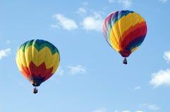 Colorful Hot Air Balloons. Looking upwards at colorful hot air balloons Stock Photo