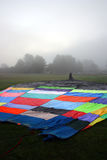 Colorful Hot air balloons preparing for flight in Vermont.  Stock Image