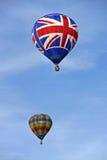 Colorful hot air balloons rising Royalty Free Stock Photos