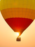Colorful hot air balloons in the start of journey trip Stock Photo