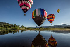 Colorful Hot-Air Balloons Stock Photography