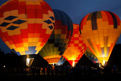 Colorful Hot Air Balloons Two Royalty Free Stock Image