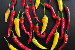 Colorful hot Chili Peppers Royalty Free Stock Image