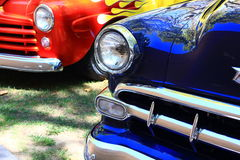 Colorful hot rod classic cars Royalty Free Stock Photos
