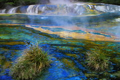 Colorful hot spring Royalty Free Stock Photo