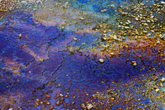 Colorful hot spring deposits Royalty Free Stock Photography