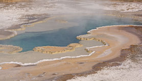 Colorful Hot Springs in the Fall Stock Photo