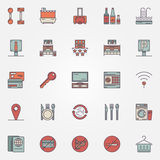 Colorful hotel icons Stock Photo