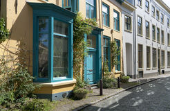 Colorful house. In a street in zutphen, netherlands royalty free stock photo