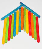 Colorful house. Of wooden sticks,isolated on the white background Stock Photography