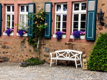 A colorful house in Battenberg, origin of the noble Mountbatten Royalty Free Stock Images