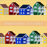 Colorful house border Stock Image